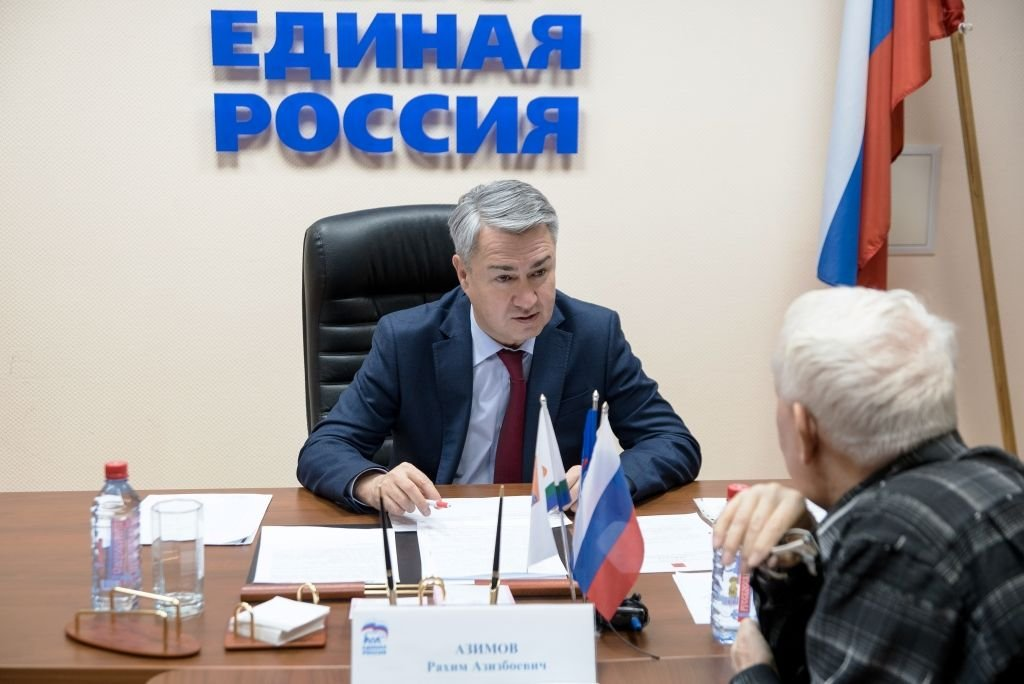 Рахим Азимов  провел  прием  граждан